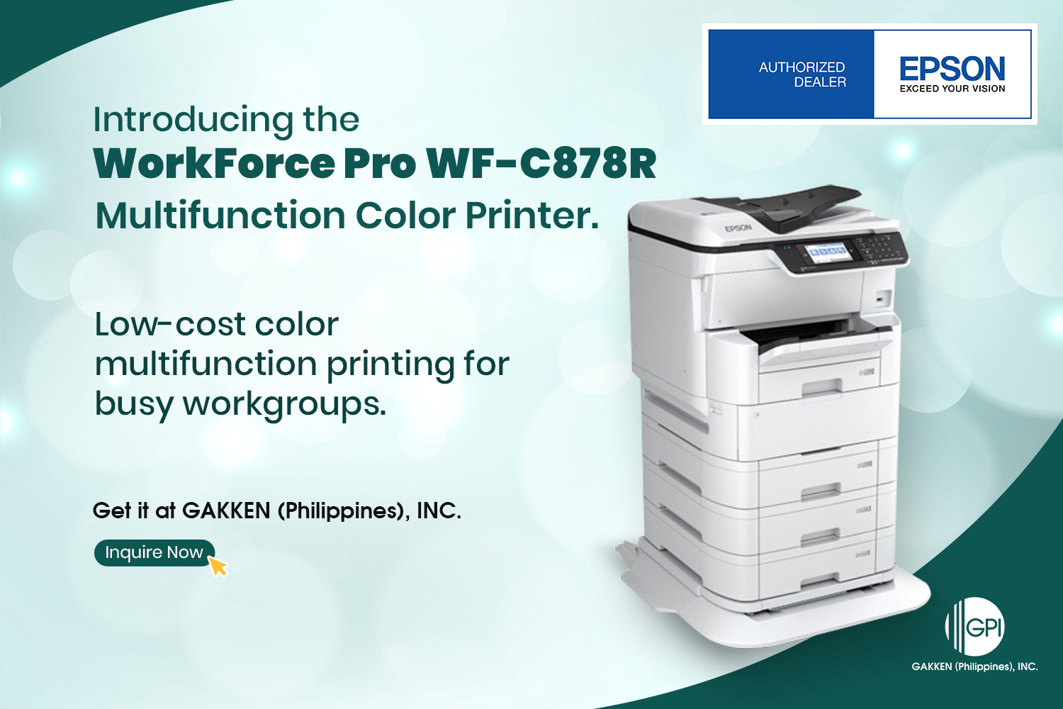 INTRODUCING THE WorkForce Pro WF-C878R: Unparalleled Functionality