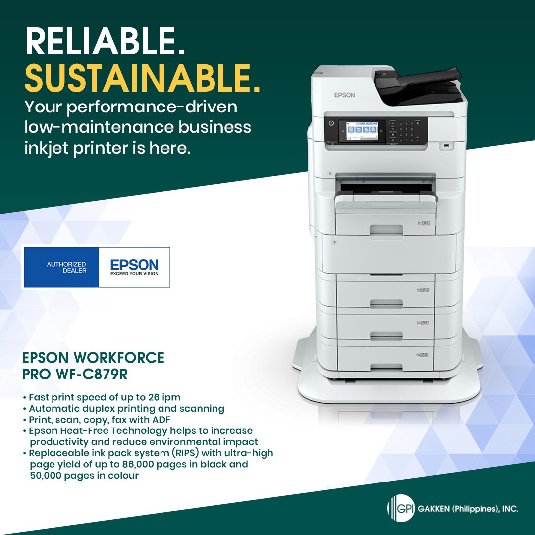 SUSTAINABLE, RELIABLE: This Is The Epson WorkForce Pro WF-C879R A3 Colour Multifunction Printer